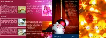 Celebratory Short Breaks Christmas & New Year ... - Sleepwell Hotels
