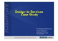 Design in Services in Services Design in Services in ... - Advantech
