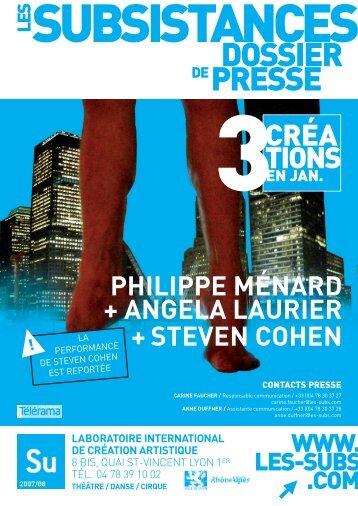 """Voir le dossier de presse """"Ménard / Laurier"""" (pdf ... - Les Subsistances"""