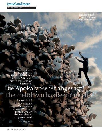 Die Apokalypse ist abgesagt! The meltdown has been cancelled!