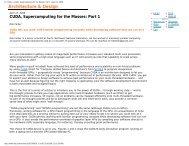 Dr. Dobb's | CUDA, Supercomputing for the Masses: Part 1 | April 15 ...
