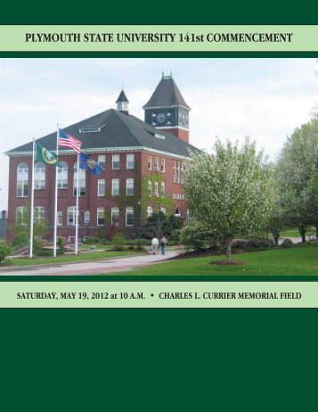 PLYMOUTH STATE UNIVERSITY 141st COMMENCEMENT
