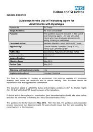 Guidelines for the Use of Thickening Agent for Adult Clients with ...