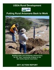 USDA Rural Development Putting Rural Arizonans Back to Work