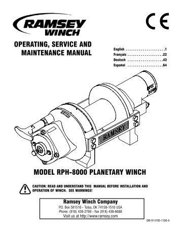 Ramsey Hydraulic Winch Wiring Diagram. . Wiring Diagram on