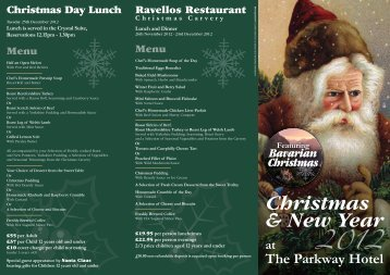 Christmas & New Year at The Parkway Hotel 2012