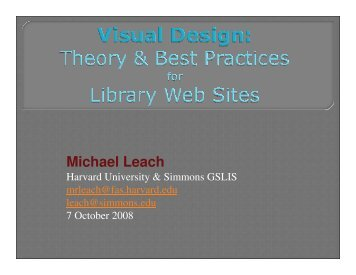 Visual Design for Library Websites - WebJunction