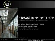 Windows to Net-Zero Energy - Green Futures Lab - University of ...