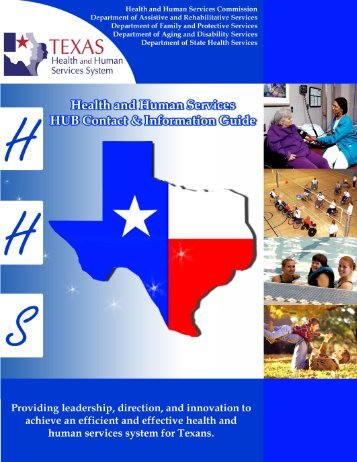 HUB Program Booklet (PDF) - Texas Health and Human Services ...
