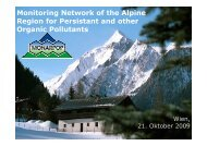 Monitoring Network of the Alpine Region for Persistant and other ...