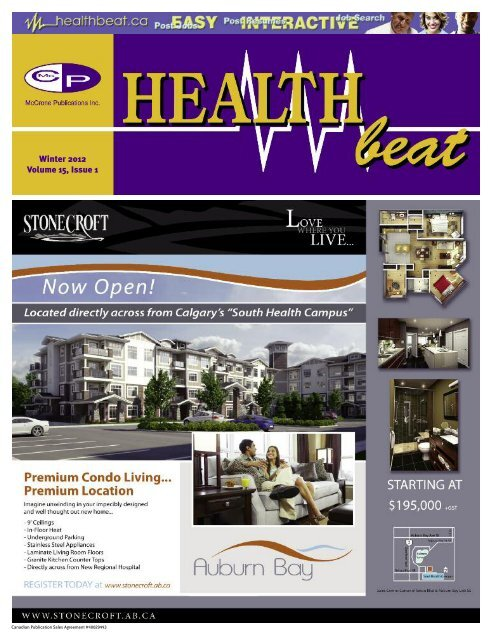 Winter 2012 Volume 15, Issue 1 - McCrone Healthbeat