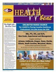 Jan/Feb 2007 - McCrone Healthbeat