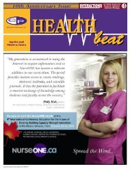 Sep/Oct 2008 Volume 11, Issue 5 - McCrone Healthbeat