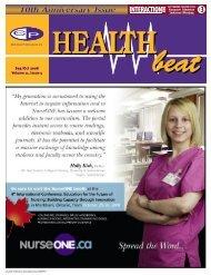 Sep/Oct 2008 Volume 11, Issue 5 - McCrone Healthbeat