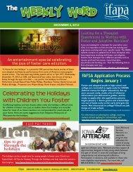 Weekly Word - December 11, 2012 - ifapa