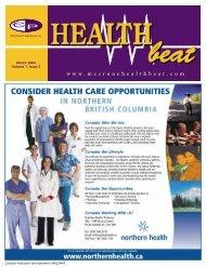 March 2004 Volume 7, Issue 3 - McCrone Healthbeat