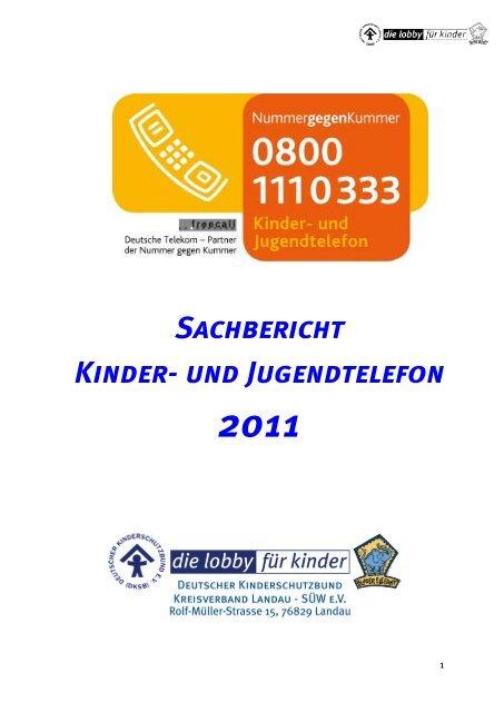 Sachbericht Kinder- und Jugendtelefon - Deutscher ...