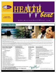 August 2003 Volume 6, Issue 8 - McCrone Healthbeat