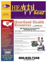 April 2002 Volume 5, Issue 4 - McCrone Healthbeat