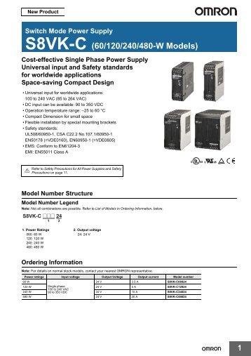 S8VK-C (60/120/240/480-W Models)