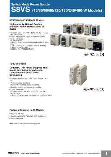 S8VS (15/30/60/90/120/180/240/480-W Models) - OMRON Russia ...