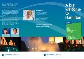 A big welcome to Hamilton - Waikato District Council