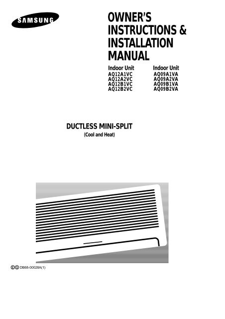 OWNER'S INSTRUCTIONS & INSTALLATION MANUAL - Quietside