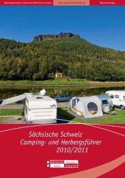 Sächsische Schweiz Camping- und  Herbergsführer 2010/2011 - Pirna