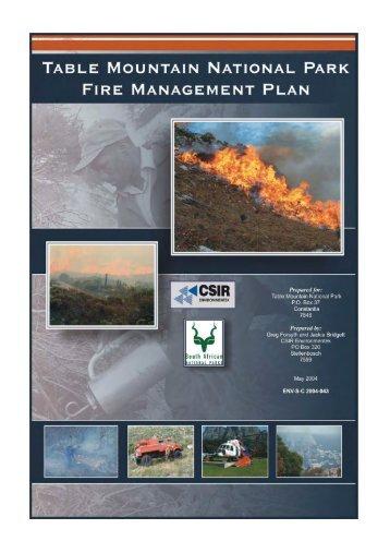 Fire Management Plan - SANParks