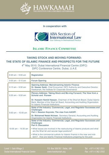 the state of islamic finance and prospects for the future