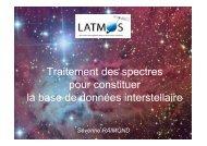 Traitement des spectres pour constituer la base de données ... - Cesr