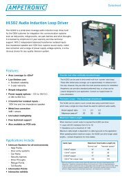 HLS02 Audio Induction Loop Driver - SKS Communications Ltd.