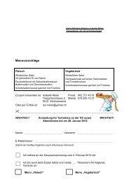 Menuvorschläge - Swiss Masters Athletics