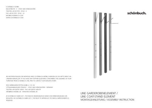 Assembly Instructions For The Line Wardrobe By Scha Nbuch Connox