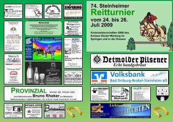 Zeiteinteilung Samstag, den 25. Juli 2009 - Reit- und Fahrverein ...
