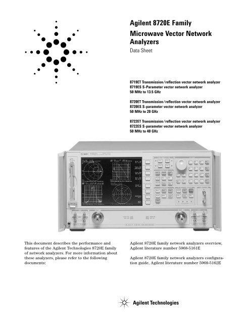 Agilent 8720E Family Microwave Vector Network Analyzers