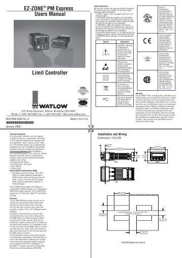 ez zone pm express panel mount controller watlow watlow ez zone limit controller tevet