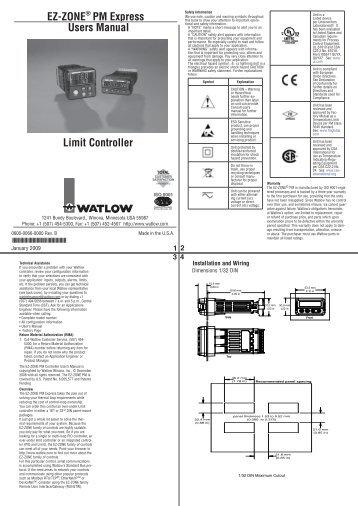 Ez Zone Pm Express Panel Mount Controller Watlow
