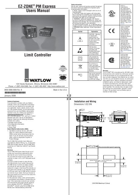 watlow ez zone wiring diagram