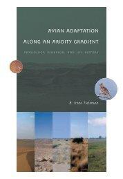 avian adaptation along an aridity gradient - Dissertaties van de ...
