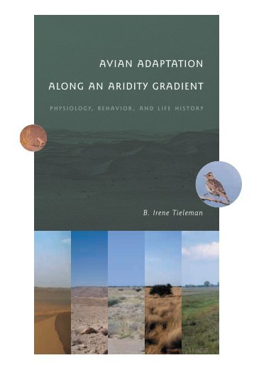 avian adaptation along an aridity gradient - Dissertaties van de ...