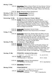 Montag, 13. Mai 8:00 Uhr Schmidham: Messe ... - pfarreien-begv.de
