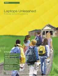 Laptops unleashed: a middle school experience