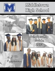 Scholarship guide for 2013 - Middletown City School District