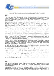 pubblicazioni - CIRMA