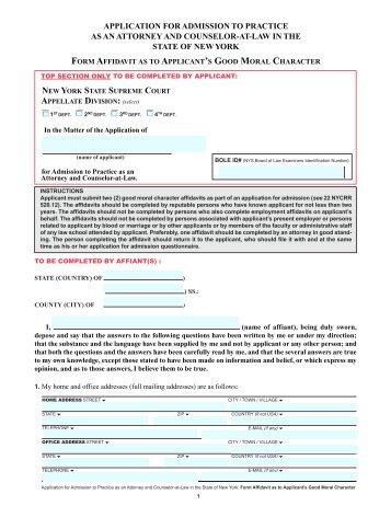 Affidavit of good moral character florida department of children form affidavit as to applicants good moral character altavistaventures Image collections