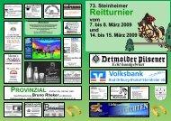 Zeiteinteilung Sonntag, den 8. März 2009 - Reit- und Fahrverein ...