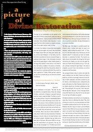 a Divine Restoration - The Carpenter's Ministry