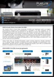 HDMI 4x2 MATRIX - Beamershop24.net