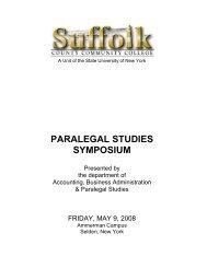 paralegal studies symposium - Suffolk County Community College